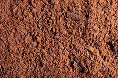 Cocoa powder with small pieces of chocolate Stock Photo