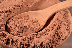 Cocoa powder in a spoon Royalty Free Stock Photo