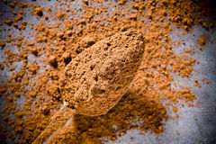 Cocoa powder. Royalty Free Stock Images