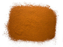 Cocoa powder on a white background Royalty Free Stock Images