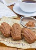 Cocoa powdered choco madeleines Stock Photo