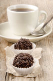 Cocoa praline with chocolate sprinkle Stock Images