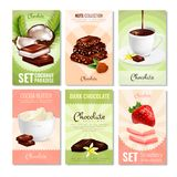 Cocoa Products Cards Collection Stock Images