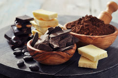 Cocoa products Royalty Free Stock Photos