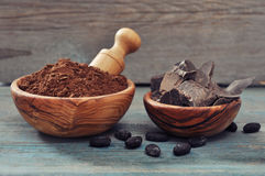 Cocoa products Stock Photos