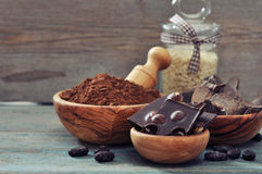 Cocoa products Royalty Free Stock Image