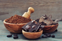 Cocoa products Royalty Free Stock Photo