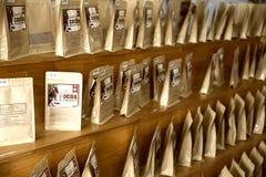 Cocoa on the shelves Stock Photos