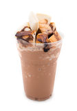Cocoa smoothie with bread Stock Image