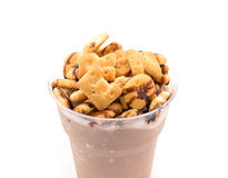 Cocoa smoothie with cookie Royalty Free Stock Photography