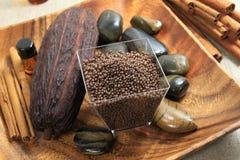 Cocoa spa stock image