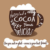 Cocoa vintage card Royalty Free Stock Photo