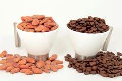 Cocoa vs. coffee Stock Photos