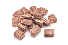 Cocoa wafer dessert Royalty Free Stock Photo