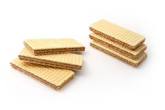 Cocoa wafers Stock Photo