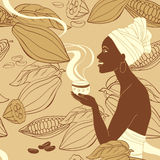 Cocoa woman Royalty Free Stock Photography
