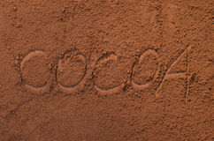 Cococa powder Royalty Free Stock Images
