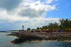 CocoCay - Bahamas. Cococay say Hello and Wellcome to Bahamas Stock Photography