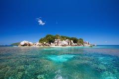 Cocoinsel in Seychellen Stockbild