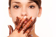 cocolate表面 库存图片