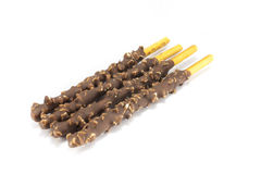 Cocolate  Covered Poky Sticks Royalty Free Stock Images