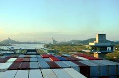 Cocoli锁环境美化,巴拿马运河 免版税库存图片