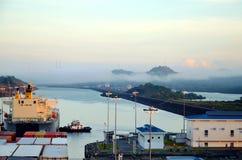 Cocoli l?slandskap, Panama kanal arkivfoto