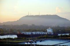 Cocoli sluit landschap, het Kanaal van Panama royalty-vrije stock afbeeldingen