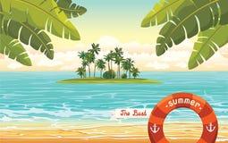Coconat island in the sea. Summer holiday. Stock Photo