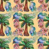 Coconats na palma Imagem de Stock Royalty Free