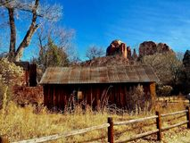 Coconino cabin. Cabin remains at park in Coconino Forrest Stock Photos