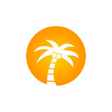 Coconout-Baum-Logovektor Stockbild