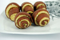 Coconu roll cookie Royalty Free Stock Photo
