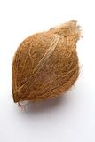 Coconut. A coconut on white studio background Stock Images
