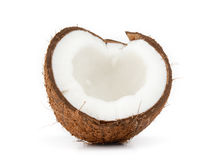 Coconut. Isolated on white background stock photos