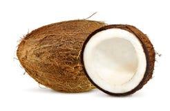 Coconut. Fresh coconut on white isolated background Royalty Free Stock Image