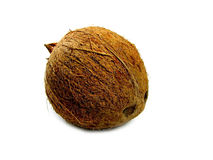 Coconut. A coconut isolated on a white background Stock Image