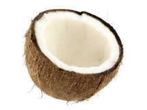 Coconut. Fruit isolated on a white backgound stock photography