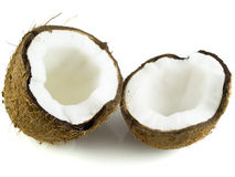 Coconut. Halfs isolated on white background Royalty Free Stock Photo