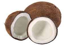 Coconut. Fresh coconut isolated on white Royalty Free Stock Photo