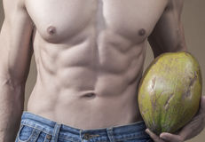 Coconut and abs Royalty Free Stock Photography