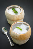 Coconut agar, asian dessert Stock Photo
