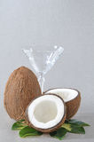 Coconut And Glass Stock Photography