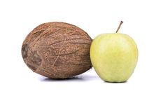 Coconut and apple Stock Photo
