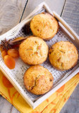 Coconut and apricot muffins Stock Image