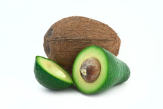 Coconut and avocado Royalty Free Stock Images