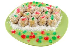 Coconut ball cookie Royalty Free Stock Photos