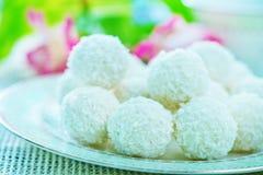 Coconut balls Royalty Free Stock Photo