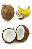 Coconut and banana Royalty Free Stock Photos