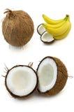 Coconut and banana Royalty Free Stock Photos
